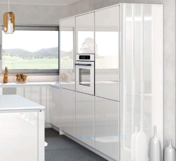 Cuisine blanche en mélaminé de fabrication Française que qualité NF